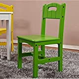 QFFL Silla para niños Silla para estudiantes de jardín Silla para jardín de niños Taburete Bebé comer silla verde 645 * 300mm Taburete al aire libre