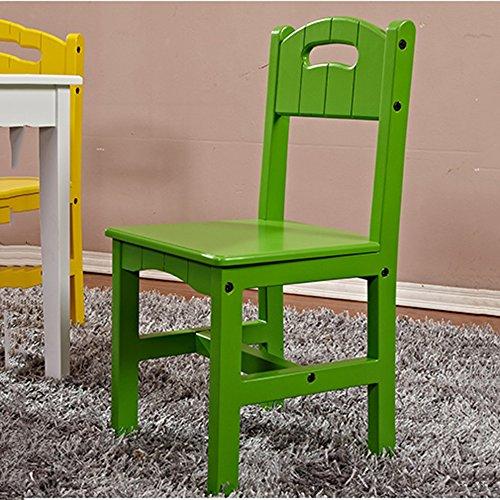 LJHA Tabouret pliable Chaise d'enfant Chaise d'étudiant de ménage Chaise de maternelle en bois Tabouret Bébé mangent la chaise verte 645 * 300mm chaise patchwork
