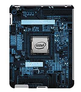 Fuson 3D Printed Intel Designer Back Case Cover for Apple iPad 3 - D1023
