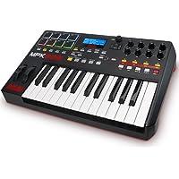 AKAI Professional MPK225 Clavier Maître MIDI avec 25 Touches Semi-Lestées avec les Contrôles des Stations MPC y Compris 8 Pads, Q-Links et Plug and Play, Noir