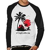 Cloud City 7 Dragon Ball Z Kame House Silhouette Men's Baseball Long Sleeved T-Shirt