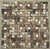 Naturstein Matte Fliesen 30x30 cm 8 mm Crema Mosaik Braun Beige Mix Marmor M518