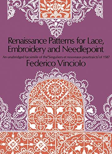 Renaissance Patterns for Lace, Embroidery and Needlepoint : An unabridged Facsimile of the Singuliers et nouveaux pourtraicts of 1587, édition en langue anglaise