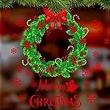 Miracle Wall Stickers Snowflake Mall Shop Windowpane Decoraciones festivas Decoraciones Anillo