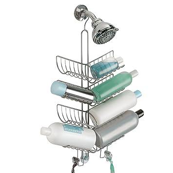 mdesign duschablage zum hngen praktisches duschregal ohne bohren zu montieren duschkrbe zum hngen aus metall fr smtliches duschzubehr shampoo - Duschzubehor Zum Hangen