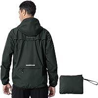 donhobo Men's Waterproof Jacket,Waterproof Rain Jackets Windbreaker Packable Hood Reflective Lightweight Quick Dry…