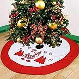Jupe de Sapin de Noël Jupe Arbre de Noël en Velours Vacances Arbre Ornements Tapis de Décoration pour Fête Noël Christmas,91.4 cm