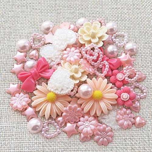 80-mix-peach-shabby-chic-resin-flatbacks-craft-cardmaking-embellishments