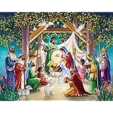 Reyes Magos en el pesebre calendario de adviento con Belén Historia