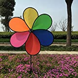ECMQS 1 STÜCK Bunte Regenbogen Windmühle Kinder Spielzeug Garten Hof Outdoor Decor New