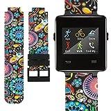 Fit-power Ersatz-Armband für Garmin Vivoactive-Armbanduhr-Band, Soft-Silikon-Ersatz Fitnessarmbänder mit Metallverschlüssen für Garmin Vivoactive/Vivoactive Acetat Sport GPS Smart Watch, PatternE