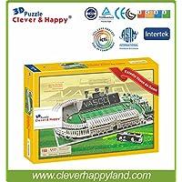 Free Shipping 3D Jigsaw Puzzle Paper Model Estadio Vasco da Gama Stadium Educational Toys Adult Puzzle Model Games