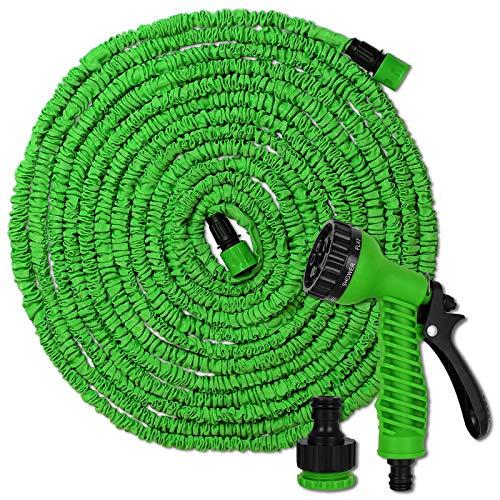 TW24 Flexibler Gartenschlauch 15m oder 30m inkl. Multifunktions Brause Flexi Schlauch Wasserschlauch flexibel Gartenschläuche dehnbar (30m)