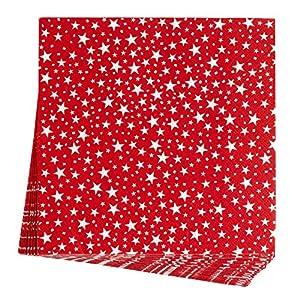 Neviti 678153Carnaval 20unidades), diseño de estrellas, color rojo