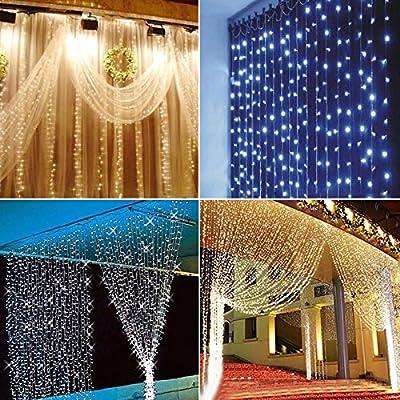 KING DO WAY 600 LEDs 6x3m Vorhang Lichterketten LED outdoor xmas baum fee Traumland Hochzeit Vorhang Licht Partei lampe 220v Party, Weihnachten, Hotel, Festival