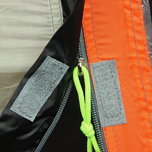 10T Mandiga 3 Orange - Tunnelzelt für 3 Personen, Campingzelt mit großer Schlafkabine, wasserdichtes Familienzelt mit 5000mm, Zelt mit 2 Eingängen und 2 Fenstern, Festivalzelt mit Dauerbelüftung, 3 Mann Zelt mit Tragetasche, Zeltheringe und Zeltgestänge - 20