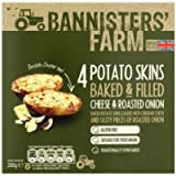 Bannisters 4 Potato Skins Filled, Cheese & Onion, 260g (Frozen)