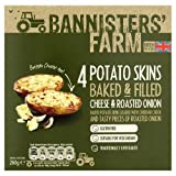Bannisters 4 Potato Skins Baked and Filled with Cheese and Roasted Onion, 260g (Frozen)