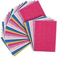 Bright Creation Corrugated Cardboard Sheets for Crafts (A4 Size, 6 Colors, 30 Pack)