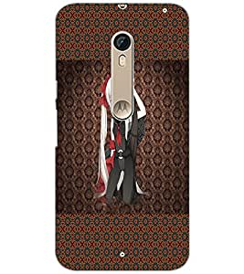 Printdhaba Lomng Hair Girl D-3558 Back Case Cover For Motorola Moto X Pure Edition