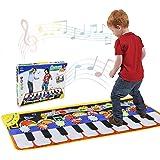 RenFox Tapis de Danse, Tapis Musical Piano Enfant, Tapis Clavier Musical Tactile & 5 Modes & 8 Sons, 1 2 3 4 5 Ans Cadeau d'a