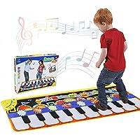 RenFox Tappeto Musicale, Piano Mat Tastiera Danza Stuoia Strumento Musicale 5 modalità e 8 Suoni, Tappeto Musicale Tocco…