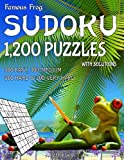Famous Frog Sudoku 1,200 Puzzles With Solutions. 300 Easy, 300 Medium, 300 Hard & 300 Very Hard: A Beach Bum Series 2 Book: Volume 24 (Beach Bum Sudoku Series 2)