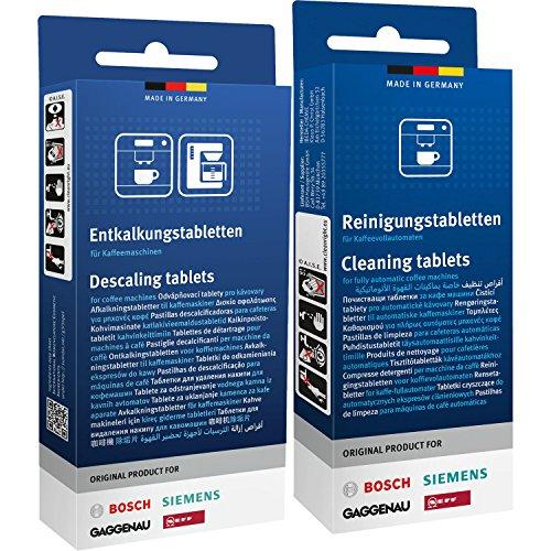 1x 10Bosch Siemens pastillas de limpieza (00311769) + 1x 3Bosch Siemens-Pastillas descalcificadoras (00311819)