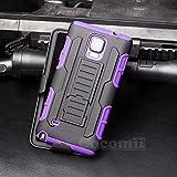 Cocomii Robot Armor Galaxy Note 4 Funda [Robusto] Superior Funda Clip para Cinturón Soporte Antichoque Caja [Militar Defensor] Cuerpo Completo Case Carcasa for Samsung Galaxy Note 4 (R.Purple)