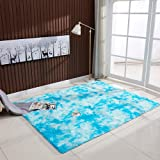 Festnight Ultra Soft Tie-Dye Style Gradient Color Carpet Floor Bedroom Mat Rectangle Shape Fluffy Rug for Living Room Bedroom