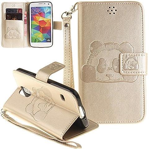 Nnopbeclik® [Coque Samsung Galaxy S5 NEW] Fine Folio Portefeuille en
