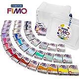Fimo Effect 57G polímero modelado moldura horno hornear arcilla–gama completa de todos los colores 36en claro cubo de almacenamiento