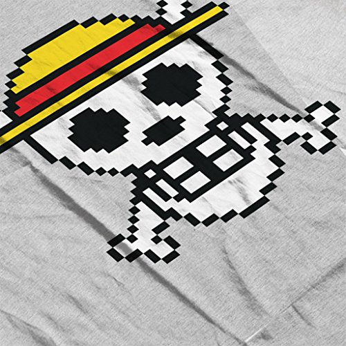 Straw Hat Skull And Cross Bones Pixel One Piece Women's Vest Heather Grey