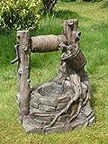 TWC WARENHANDEL PLUS Garten und mehr... Deko Brunnen Outdoor Gartenbrunnen Springbrunnen wetterfest | liebevoll gestalteter dekoratives Wasserspiel für innen und außen