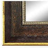 Wandspiegel Spiegel Badspiegel - Monza 6,7 - Braun Gold - 60 x 80 - Außenmaß inkl. Massivholz-Rahmen - viele Größen verfügbar - Modern, Barock, Antik, Vintage