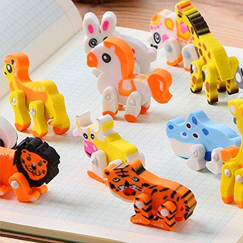 adierer Kinder Radierer Neuheit Tiere Art Bleistift-Radiergummi-Briefpapier Mini Farbradierer Studenten Süß Radiergummi ()