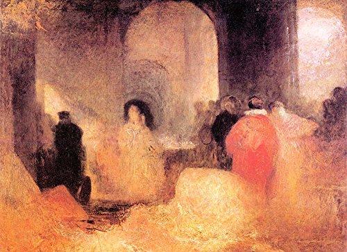 Vinci Et Kostüm Da - Das Museum Outlet-Ein Abendessen in einem großen Raum mit Menschen in Kostümen von Joseph Mallord Turner-Leinwand