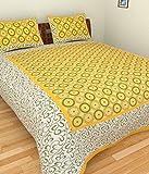 #10: Jaipuri Style Cotton Rajasthani Double Bedsheet -Y1 (King Size)