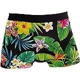 ALARGE - Boxer da uomo con ananas e foglie di palma, intimo corto, morbido elasticizzato, per uomo e ragazzo, S-XL