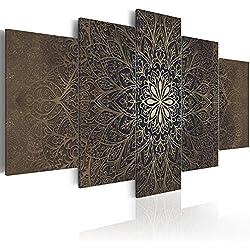 murando - Cuadro 200x100 cm - Mandala - Impresion en Calidad fotografica - Tejido-no Tejido Lienzo - Cuadro - Cuadro - Ornamento f-A-0515-b-n