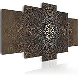 murando - Cuadro en Lienzo 200x100 cm - Mandala - Impresion en calidad fotografica - tejido-no tejido Lienzo - Cuadro - Cuadro - Ornamento f-A-0515-b-n