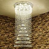 AXCJ Kronleuchter - die Beleuchtung Wendeltreppe von Crystal Chandelier - S, Duplex, Gebäude Villa Vast Lounge führte Innenbeleuchtung Chandelier-,10 Lights / 70 * 150 cm