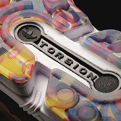 adidas Herren ZX Flux Sneakers, Blau, 38 EU Schwarz (Black/Black/White)