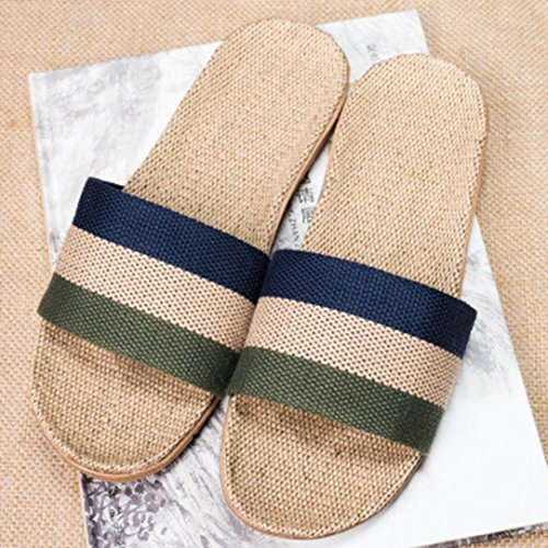 KOLY Pantofole Donna Uomo Biancheria antiscivolo Home Indoor Scarpe da tennis aperte in estate Green