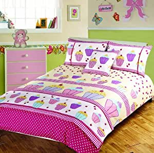 Childrens Kids Bedding Double Size Bed CUPCAKE DESIGN