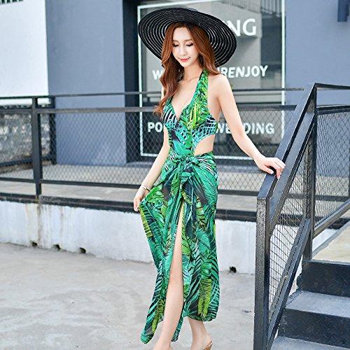 MLDYZ Spa Badeanzug Sexy, Stilvolle Twin V-Gürtel Trug Bettwäsche Zwei Stück, Grün, Xl