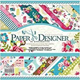 #3: Blueink Set of 40 Thick Beautiful Pattern Design Printed Papers for Art n Craft (8x8 Inch) (SWEET LIFE)