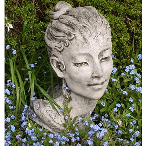 Vidroflor Gartenfigur   Frauenkopf Tiffany-Belle   H: 53 cm   40 kg   aus massivem Steinguss