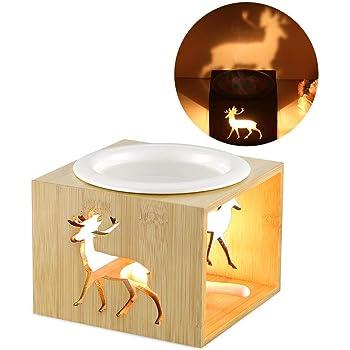 Pajoma Bambus//Keramik Duftlampe ICE Mini L 9,5 x B 9,5 x H 9,5 cm