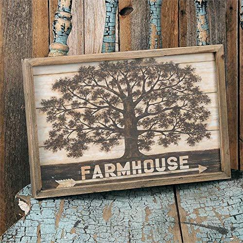 B&B B&BlossomBucket Farmhouse Wandschild, Baum, ca. 27,9 x 20,3 x 2,5 cm Bb Blossom